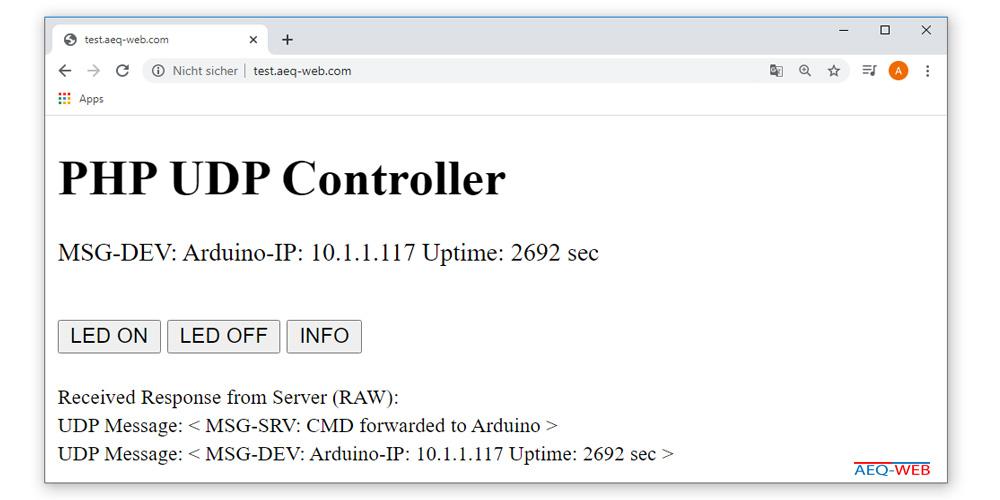 Arduino PHP Info