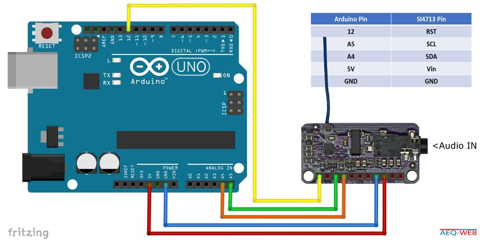 SI4713 Pins Wiring Arduino