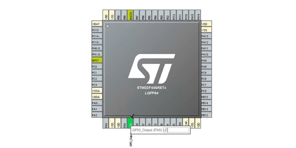 STM CubeIDE Setup GPIO Label