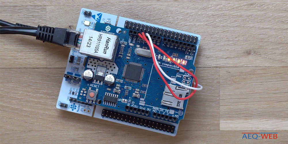 STM32 Nucelo64 Arduino Ethernet Shield Verdrahtung