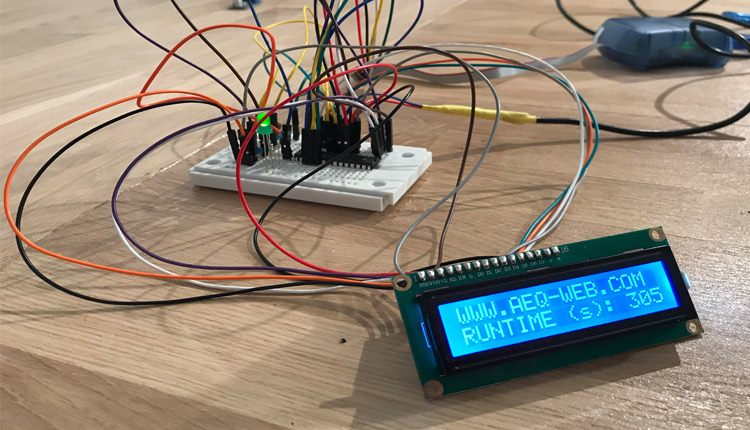 ATMega328 4Bit LCD Display Control