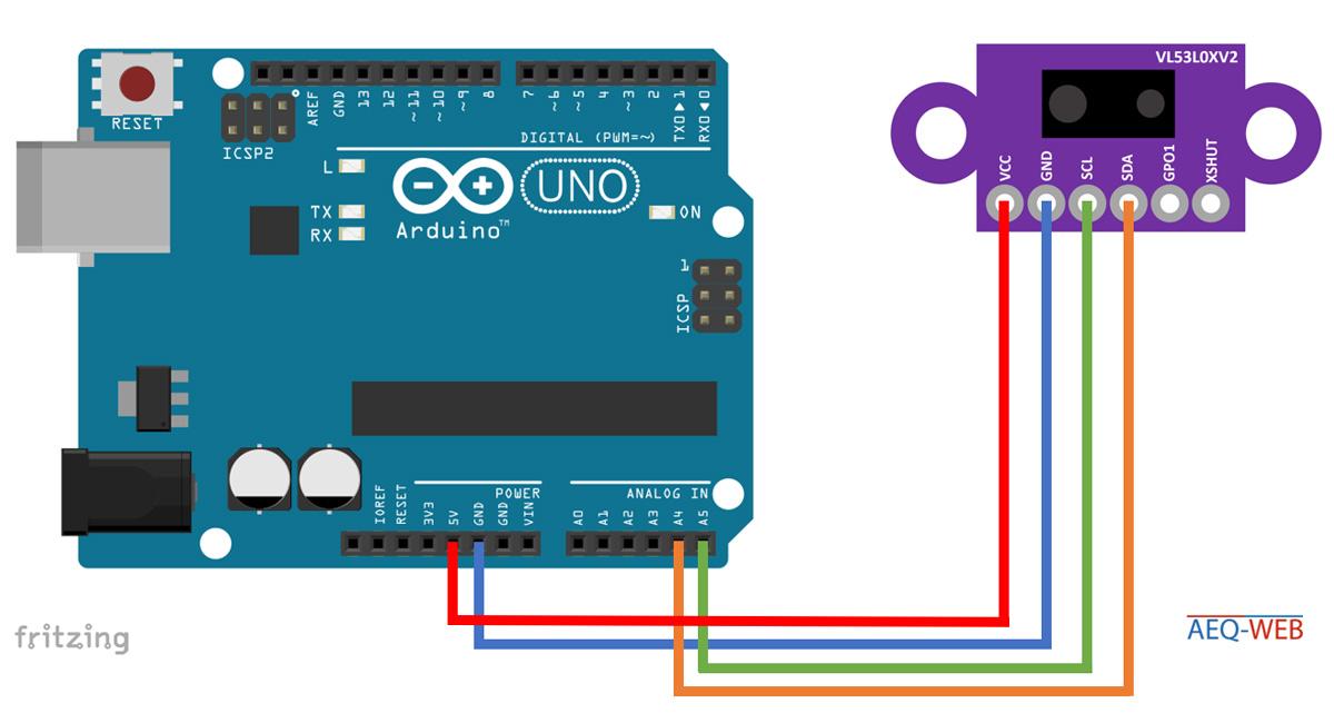 Arduino VL53L0X Arduino Schaltplan