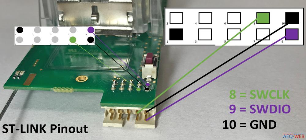 Vaisala RS41 ST-Link Pins