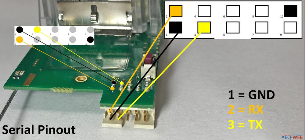 Vaisala RS41 Serial Interface Pins