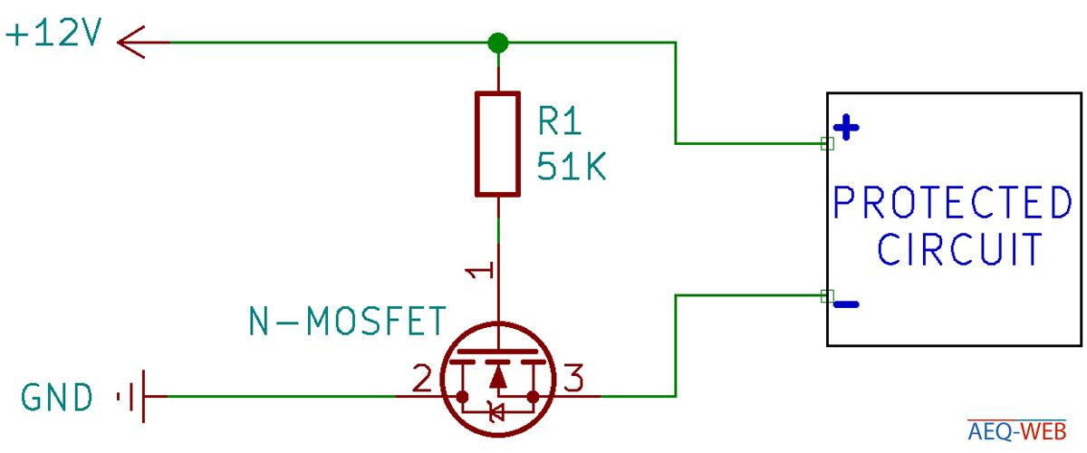 Verpolungsschutz mit N Kanal MOSFET
