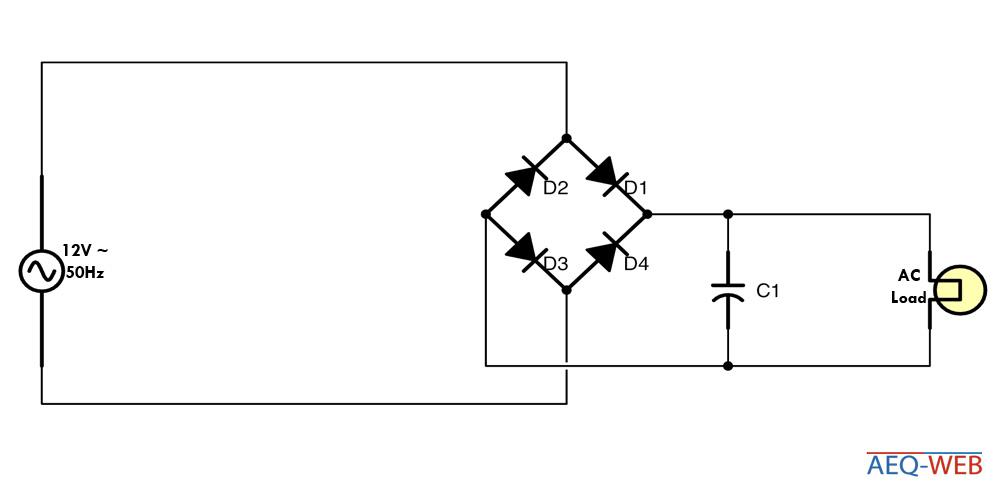 Zweipuls Brückengleichrichter mit Glättung